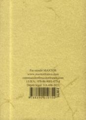 Traite Complet Du Jeu De Trictrac, Suivi D'Un Traite Du Jeu De Backgammon - 4ème de couverture - Format classique