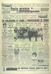 Paris Presse L'Intransigeant N°5185 du 11/08/1961 - Couverture - Format classique
