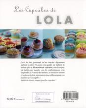 Les cupcakes de Lola - 4ème de couverture - Format classique