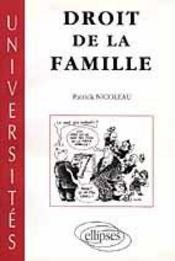 Droit De La Famille - Intérieur - Format classique