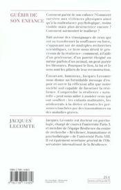 Guerir De Son Enfance - 4ème de couverture - Format classique
