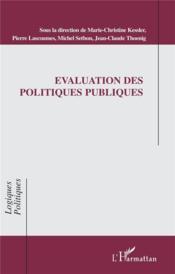 Evaluations Des Politiques Publiques - Couverture - Format classique