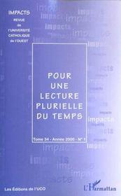 Pour une lecture plurielle du temps - Intérieur - Format classique