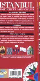 Istanbul, bosphore et dardanelles - 4ème de couverture - Format classique