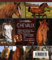 Lexiguide des chevaux - 4ème de couverture - Format classique