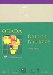 Ohada ; droit de l'arbitrage - Couverture - Format classique