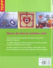 Décors de rêve en window color ; décorations et idées de cadeaux - 4ème de couverture - Format classique