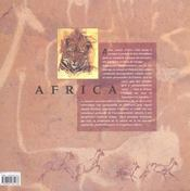 Africa ; Carnets D'Artiste - 4ème de couverture - Format classique