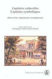 Capitales Culturelles Capitales Symboliques. - Intérieur - Format classique