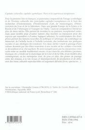 Capitales Culturelles Capitales Symboliques. - 4ème de couverture - Format classique