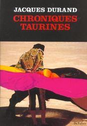 Chroniques Taurines - Intérieur - Format classique
