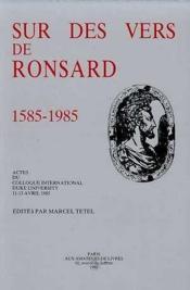 Sur Des Vers De Ronsard - Couverture - Format classique