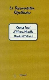 Statut local d'Alsace Moselle - Couverture - Format classique