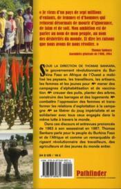 Thomas Sankara parle ; la révolution au Burkina Faso, 1983-1987 - 4ème de couverture - Format classique