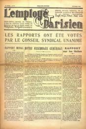Employe Parisien (L') N°8 du 01/10/1937 - Couverture - Format classique