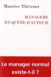 Managers en quête d'auteur - Couverture - Format classique