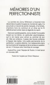 Mémoires d'un perfectionniste - 4ème de couverture - Format classique