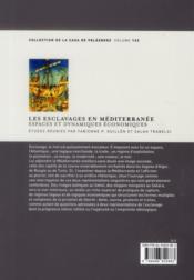 Esclavages En Mediterranee - 4ème de couverture - Format classique