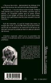 Oratorio Pour Une Jeune Fille Et 26 Sculptures - 4ème de couverture - Format classique
