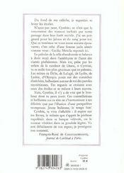 Cynthia ; elegies amoureuses - 4ème de couverture - Format classique