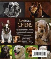 Lexiguide des chiens - 4ème de couverture - Format classique