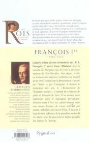 François Ier - 4ème de couverture - Format classique