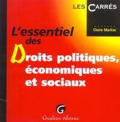 Essentiel Des Droits Politiques, Economiques Et Sociaux - Intérieur - Format classique