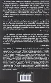 France-isarel,les medias en question - 4ème de couverture - Format classique