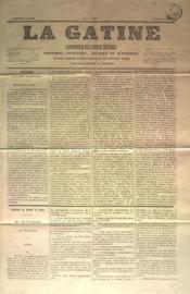 Gatine (La) N°18 du 27/06/1870 - Couverture - Format classique