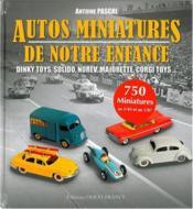 Autos miniatures de notre enfance - Couverture - Format classique
