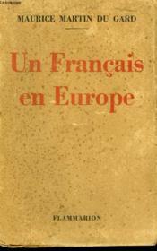 Un Francais En Europe. - Couverture - Format classique
