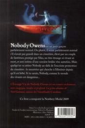 L'étrange vie de Nobody Owens - 4ème de couverture - Format classique