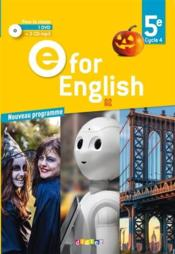Vente livre :  E FOR ENGLISH ; 5e ; 2 cd audio + 1 dvd + 2 CD mp3 pour la classe (édition 2017)  - Melanie Herment