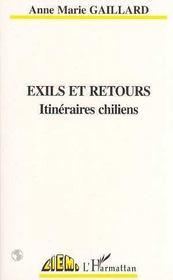 Exils Et Retours, Itineraires Chiliens - Intérieur - Format classique