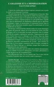 L'Amazonie Et La Mondialisation ; Essai D'Ecologie Politique - 4ème de couverture - Format classique