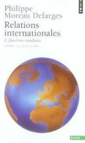 Relations internationales t.2 ; questions mondiales - Couverture - Format classique