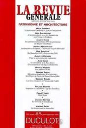 Revue Generale 1999/8-9 Architecture Et Patrimoine - Couverture - Format classique