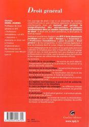 Zoom'S Droit General - 4ème de couverture - Format classique