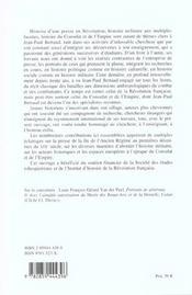 La Plume Et Le Sabre ; Hommages Offerts A Jean-Paul Bertaud - 4ème de couverture - Format classique