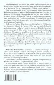 Alexandre Farmese ; 1468-1549 - 4ème de couverture - Format classique