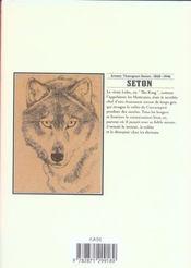 Seton t.1 ; lobo le roi des loups - 4ème de couverture - Format classique