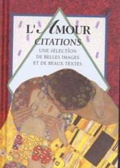 L'amour : citations - Couverture - Format classique