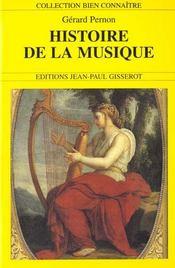 Histoire De La Musique - Intérieur - Format classique
