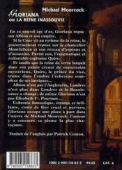 Gloriana Ou La Reine Inassouvie - 4ème de couverture - Format classique