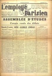 Employe Parisien (L') N°9 du 01/11/1937 - Couverture - Format classique