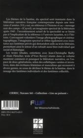 Imaginaire Spectral De La Litterature Francaise Contemporaine - 4ème de couverture - Format classique