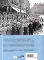 Les Marseillais pendant la seconde guerre mondiale - 4ème de couverture - Format classique