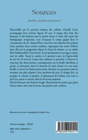 Sources ; atelier poésie jeunesse - 4ème de couverture - Format classique