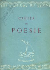 Les Cahiers Du Rhone. Cahier De Poesie 2, Avril 1942 - Couverture - Format classique