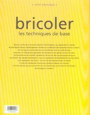 Bricoler - 4ème de couverture - Format classique